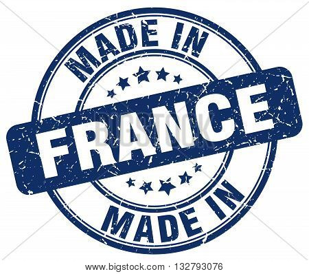 made in France blue round vintage stamp.France stamp.France seal.France tag.France.France sign.France.France label.stamp.made.in.made in.