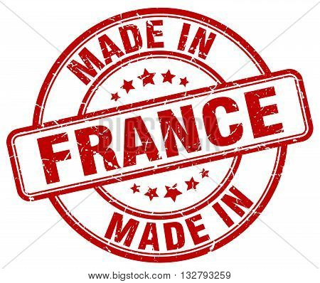 made in France red round vintage stamp.France stamp.France seal.France tag.France.France sign.France.France label.stamp.made.in.made in.