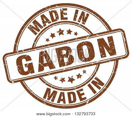made in Gabon brown round vintage stamp.Gabon stamp.Gabon seal.Gabon tag.Gabon.Gabon sign.Gabon.Gabon label.stamp.made.in.made in.