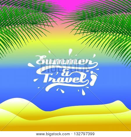 background the summer and travel in vector format eps10