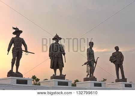 HUA HIN THAILAND-APRIL 22 : People travel in Rajabhakti Park on APRIL 22 2016 in HUA HIN Prachuap Khiri Khan Province THAILAND. Rajabhakti Park is a historically themed park honouring past Thai kings from the Sukhothai period to the current royal house of