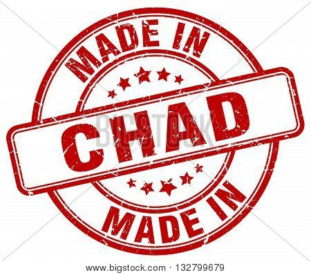made in Chad red round vintage stamp.Chad stamp.Chad seal.Chad tag.Chad.Chad sign.Chad.Chad label.stamp.made.in.made in.