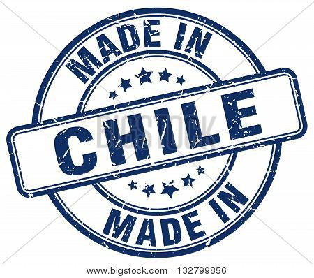 made in Chile blue round vintage stamp.Chile stamp.Chile seal.Chile tag.Chile.Chile sign.Chile.Chile label.stamp.made.in.made in.