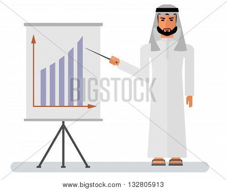 Arab Businessman Stand