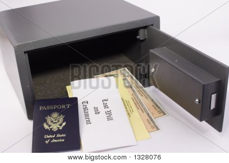 Personal Safe With Documents