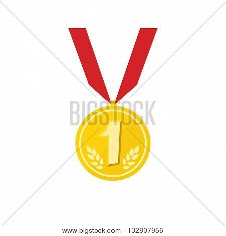 Medal icon vector isplated on white backgrond