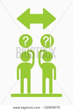 Business People Icons Direction