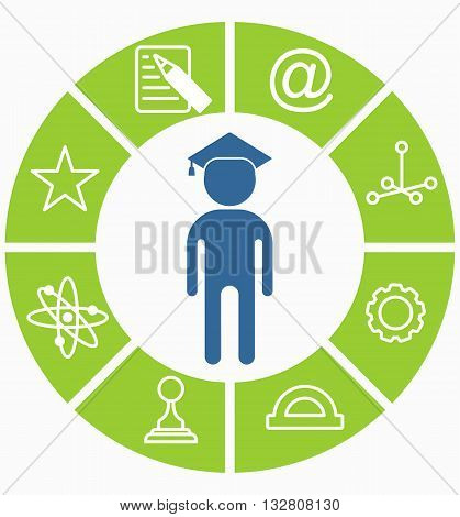 Business People Icons Education Choice