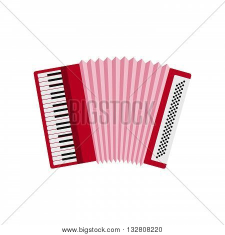 Accordion icon isolated on white background. Accordion flat icon