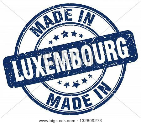 made in Luxembourg blue round vintage stamp.Luxembourg stamp.Luxembourg seal.Luxembourg tag.Luxembourg.Luxembourg sign.Luxembourg.Luxembourg label.stamp.made.in.made in.