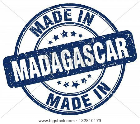 made in Madagascar blue round vintage stamp.Madagascar stamp.Madagascar seal.Madagascar tag.Madagascar.Madagascar sign.Madagascar.Madagascar label.stamp.made.in.made in.