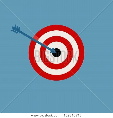 Target Vector Illustration isolated on blue background