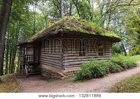 Wooden bathhouse in the village Trigorskoye Pushkinskiye Gory Reserve Russia