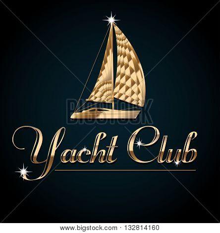 Yacht club. Flyer design template vector. Leaflet cover presentation background.