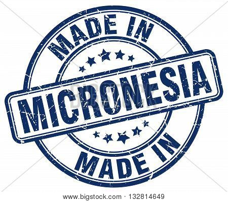 made in Micronesia blue round vintage stamp.Micronesia stamp.Micronesia seal.Micronesia tag.Micronesia.Micronesia sign.Micronesia.Micronesia label.stamp.made.in.made in.