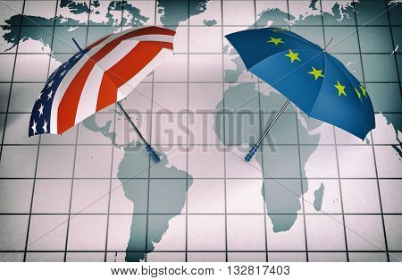 Usa And Europe, Concept Of World Security
