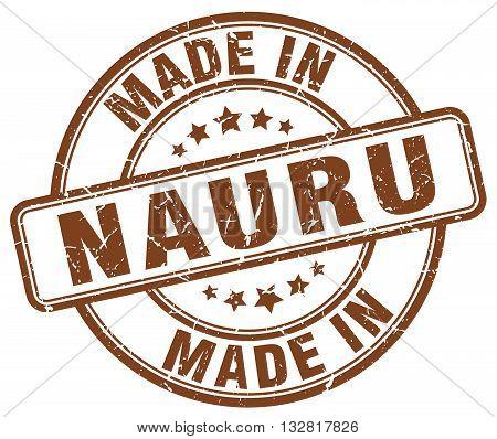 made in Nauru brown round vintage stamp.Nauru stamp.Nauru seal.Nauru tag.Nauru.Nauru sign.Nauru.Nauru label.stamp.made.in.made in.