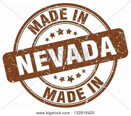 made in Nevada brown round vintage stamp.Nevada stamp.Nevada seal.Nevada tag.Nevada.Nevada sign.Nevada.Nevada label.stamp.made.in.made in.