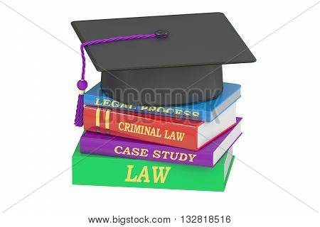 Law education 3D rendering isolated on white background