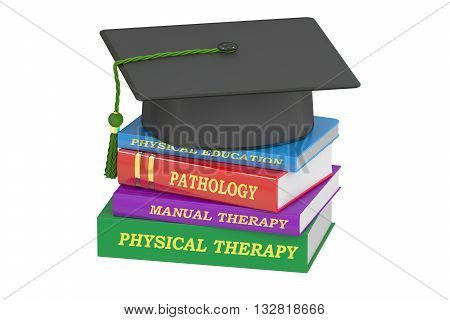 Physical therapy education 3D rendering isolated on white background