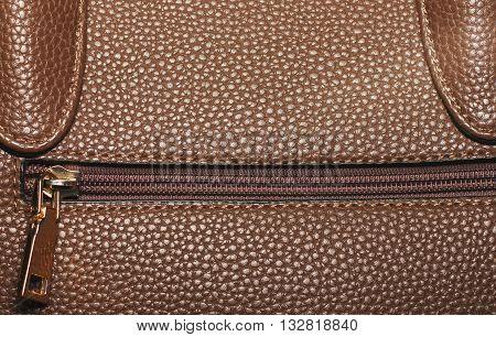 Zipper Leather Handbag Detail, Zip Pocket Bags,