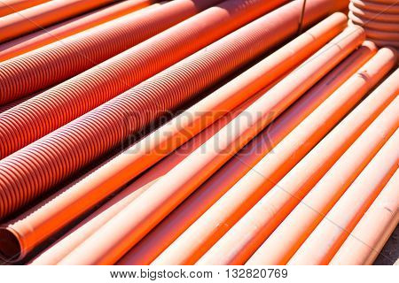 Tubes. A large amount of red tubes, picture may be used as a background