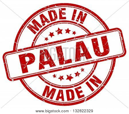 made in Palau red round vintage stamp.Palau stamp.Palau seal.Palau tag.Palau.Palau sign.Palau.Palau label.stamp.made.in.made in.