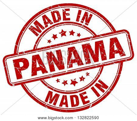 made in Panama red round vintage stamp.Panama stamp.Panama seal.Panama tag.Panama.Panama sign.Panama.Panama label.stamp.made.in.made in.