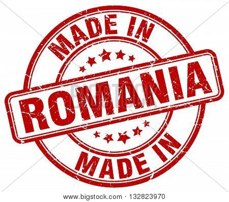 made in Romania red round vintage stamp.Romania stamp.Romania seal.Romania tag.Romania.Romania sign.Romania.Romania label.stamp.made.in.made in.