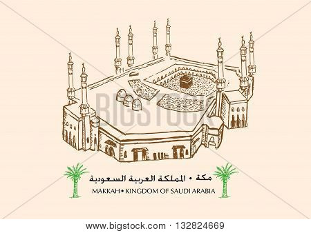 Masjid Al-haram or literally the sacred mosque is located in Makkah, Kingdom of Saudi Arabia or KSA