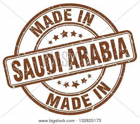 made in Saudi Arabia brown round vintage stamp.Saudi Arabia stamp.Saudi Arabia seal.Saudi Arabia tag.Saudi Arabia.Saudi Arabia sign.Saudi.Arabia.Saudi Arabia label.stamp.made.in.made in.