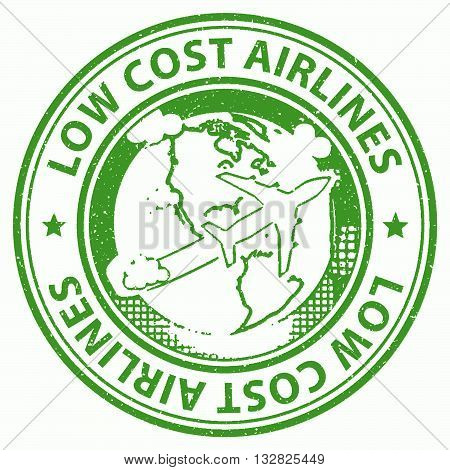 Low Cost Airlines Represents Flight Aeroplane And Cheap