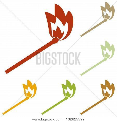 Match sign illustration. Colorful autumn set of icons.