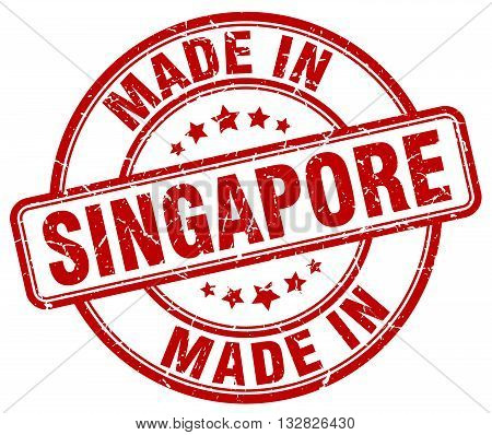 made in Singapore red round vintage stamp.Singapore stamp.Singapore seal.Singapore tag.Singapore.Singapore sign.Singapore.Singapore label.stamp.made.in.made in.