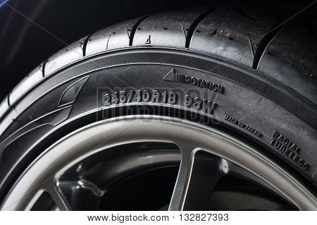 Car detailing series : Sidewall of clean tire