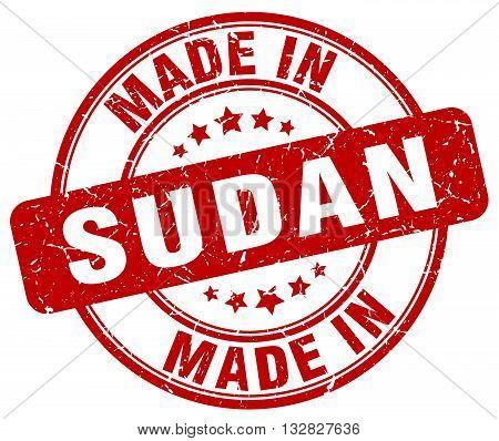 made in Sudan red round vintage stamp.Sudan stamp.Sudan seal.Sudan tag.Sudan.Sudan sign.Sudan.Sudan label.stamp.made.in.made in.