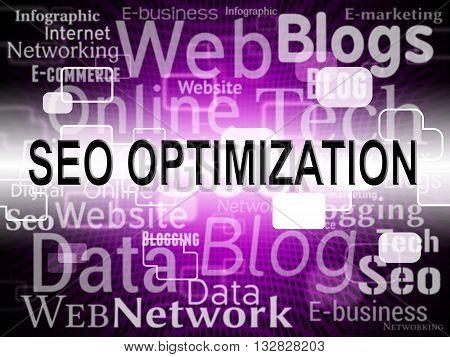 Seo Optimization Represents Web Site And Net