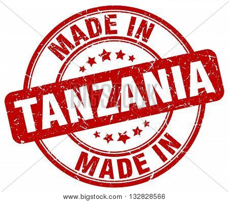 made in Tanzania red round vintage stamp.Tanzania stamp.Tanzania seal.Tanzania tag.Tanzania.Tanzania sign.Tanzania.Tanzania label.stamp.made.in.made in.