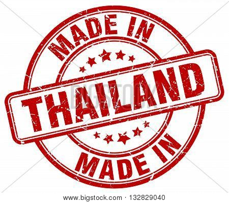 made in Thailand red round vintage stamp.Thailand stamp.Thailand seal.Thailand tag.Thailand.Thailand sign.Thailand.Thailand label.stamp.made.in.made in.