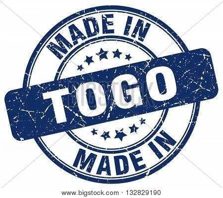 made in Togo blue round vintage stamp.Togo stamp.Togo seal.Togo tag.Togo.Togo sign.Togo.Togo label.stamp.made.in.made in.