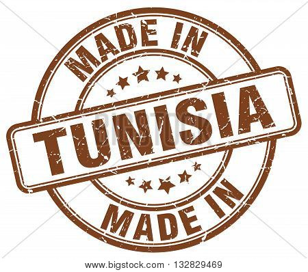 made in Tunisia brown round vintage stamp.Tunisia stamp.Tunisia seal.Tunisia tag.Tunisia.Tunisia sign.Tunisia.Tunisia label.stamp.made.in.made in.