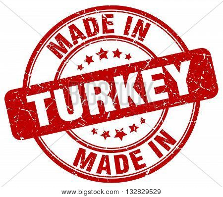 made in Turkey red round vintage stamp.Turkey stamp.Turkey seal.Turkey tag.Turkey.Turkey sign.Turkey.Turkey label.stamp.made.in.made in.