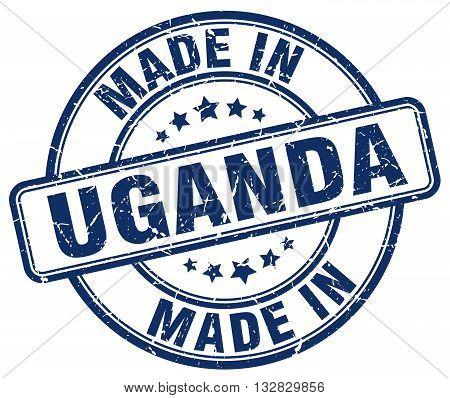 made in Uganda blue round vintage stamp.Uganda stamp.Uganda seal.Uganda tag.Uganda.Uganda sign.Uganda.Uganda label.stamp.made.in.made in.