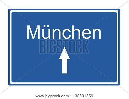 muenchen street sign Highway road trip Holiday
