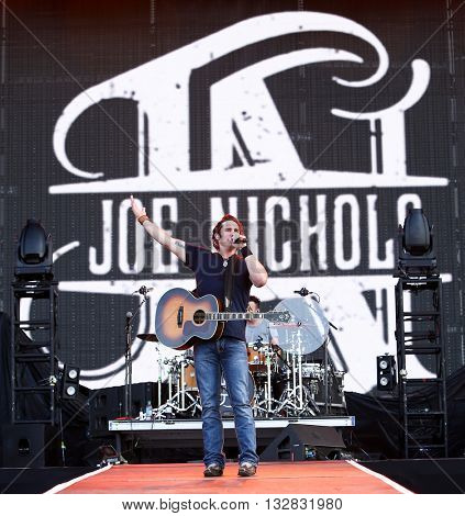 NEW YORK-JUN 26: Country musician Joeo Nichols performs onstage at the 2015 FarmBorough Festival - Day 1 at Randall's Island on June 26, 2015 in New York City.