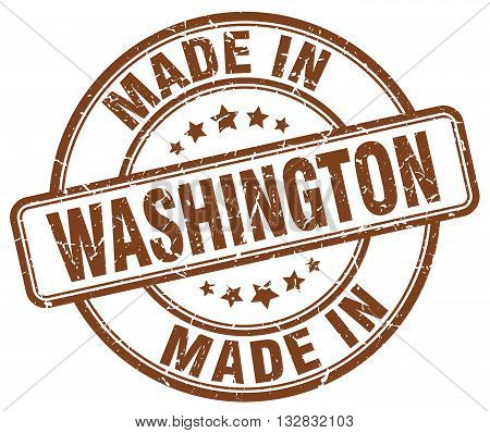 made in Washington brown round vintage stamp.Washington stamp.Washington seal.Washington tag.Washington.Washington sign.Washington.Washington label.stamp.made.in.made in.
