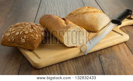 Eating lunch provisions to bake Delicious consume tasty bun