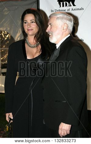 Keeley Shaye Smith and Dr. Elliott Katz at the 'In Defense of Animals Hosts 2nd Annual Guardian Award' at the Paramount Studios in Los Angeles, USA on October 30, 2004.