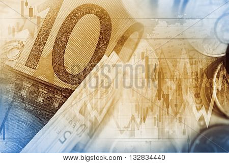 Currency Exchange Illustration. Euro Money Trading Concept.