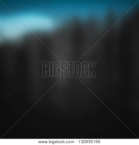Summer nature landscape on background of mountains forest.